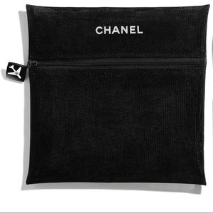Chanel Black Mesh Travel Pouch
